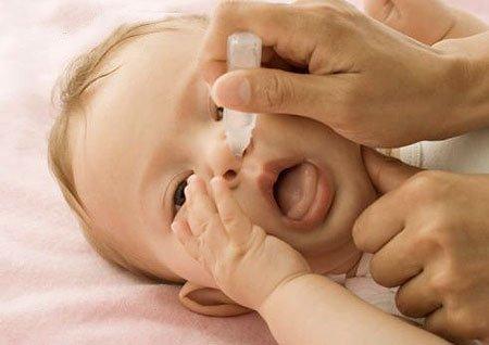 Chữa bệnh viêm mũi ở trẻ em khó chịu vùng mũi