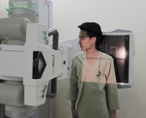 Hệ thống máy chụp X-quang công nghệ mới nhất tại bệnh viện Thu Cúc.
