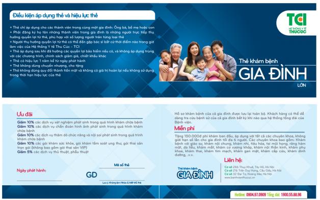 Thẻ khám bệnh gia đình lớn – Tối đa 6 người