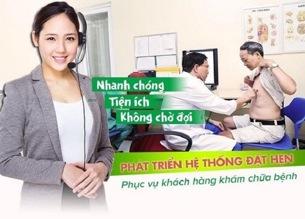 Hỗ trợ tư vấn, đặt lịch khám nhanh chóng qua tổng đài 1900 558892 giúp người bệnh tiết kiệm thời gian tối đa