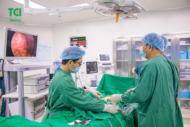 Khoa mổ Bệnh viện Thu Cúc thực hiện tất cả các thủ thuật ngoại khoa bằng mổ hở và mổ nội soi.