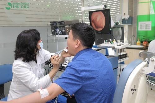 Hình ảnh ung thư vòm họng giai đoạn đầu có thể được phát hiện nhờ nội soi, siêu âm.