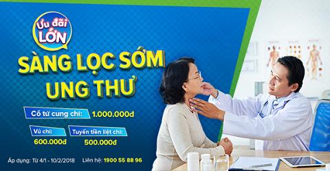 Cơ hội sàng lọc ung thư với giá chỉ từ 500.000đ