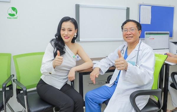 Diễn viên Phương Oanh hài lòng khi thăm khám tại Thu Cúc