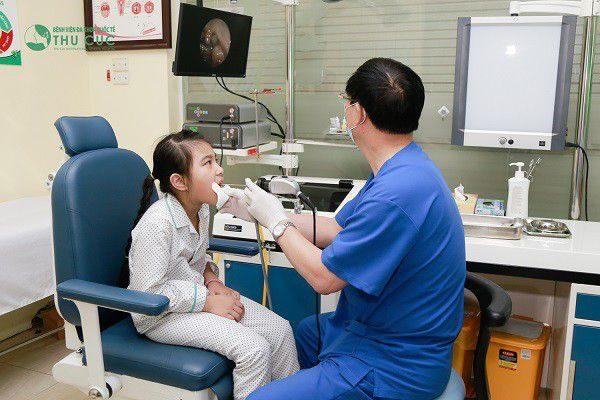 phòng khám tai mũi họng uy tín cho trẻ tại Thu Cúc