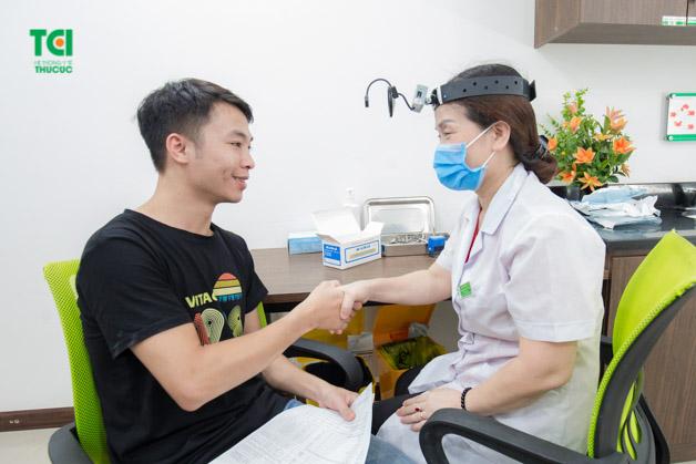 Tại Thu Cúc, người lao động sẽ được tiến hành kiểm tra sức khỏe tổng quát theo yêu cầu của doanh nghiệp