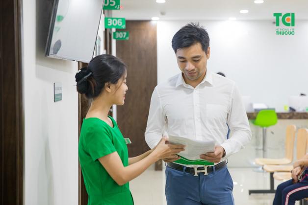 Anh Nguyễn Mậu Trọng (35 tuổi) thường xuyên thực hiện khám sức khỏe định kỳ để phòng ngừa rủi ro bệnh tật