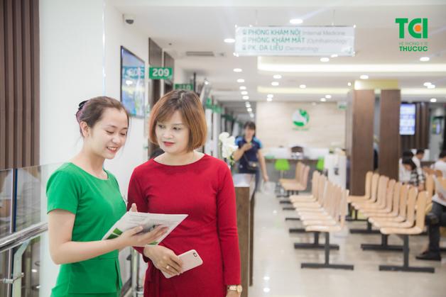 Chị Trịnh Thu Cúc đã quyết định đi thăm khám sau khi nhận thấy cơ thể có bất thường