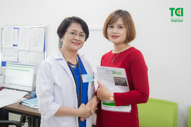 Chị Trịnh Thu Cúc cảm thấy vô cùng may mắn khi phát hiện bệnh sớm để điều trị kịp thời