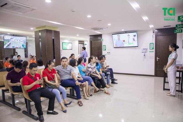 Thu Cúc có khu khám sức khỏe doanh nghiệp riêng rộng rãi