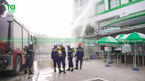 Hệ thống Y tế Thu Cúc tổ chức buổi diễn tập phòng cháy