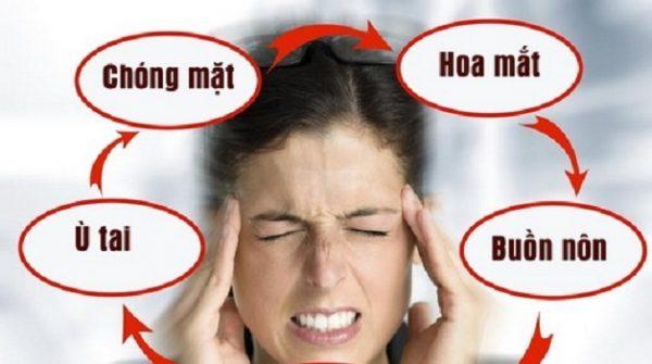 đau nửa đầu chóng mặt buồn nôn do bệnh lý rối loạn tiền đình