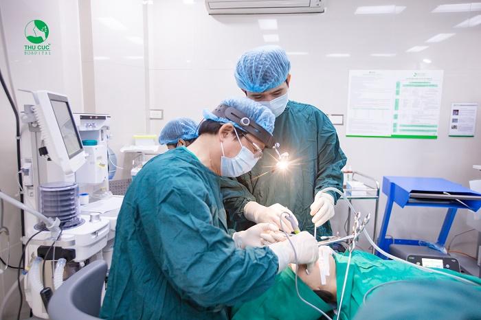 Phẫu thuật cắt bỏ amidan tại bệnh viện ĐKQT Thu Cúc