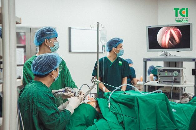 Phẫu thuật u nang dây thanh tại chuyên khoa Tai-Mũi-Họng của bệnh viện ĐKQT Thu Cúc