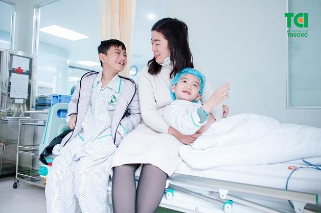 Nhiều phụ huynh đã hài lòng khi cho con phẫu thuật tại Thu Cúc