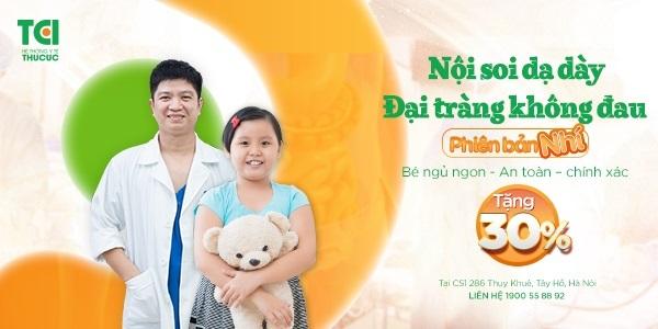 Nội soi dạ dày đại tràng không đau cho bé tại Thu Cúc