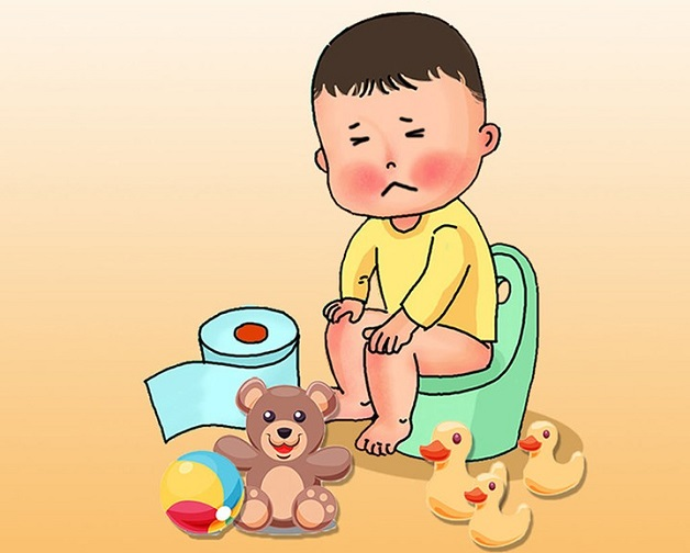 Thói quen đi vệ sinh đúng giờ sẽ tạo phản xạ tự nhiên cho trẻ, hạn chế tình trạng bé nhịn đi cầu.