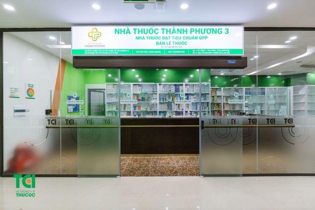 Nhà thuốc của cơ sở 3 được thiết kế rộng rãi, đáp ứng nhu câu của khách hàng