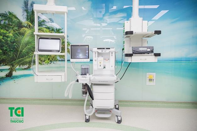 Cận cảnh máy gây mê kèm thở Drager - Fabius Plus được sử dụng tại Hệ thống Y tế Thu Cúc