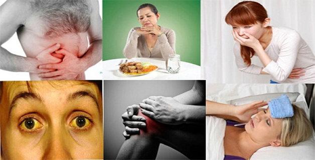 Một số triệu chứng khi nhiễm bệnh