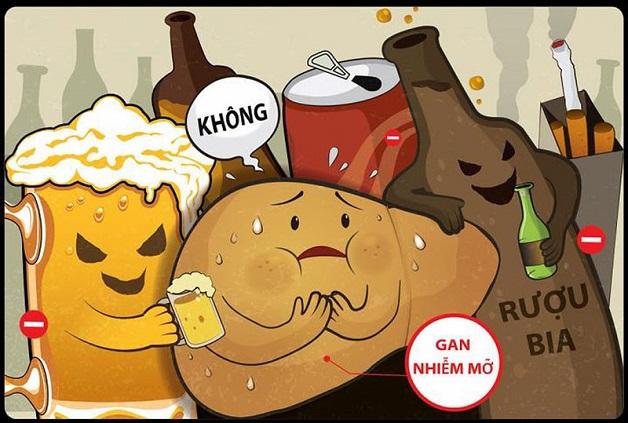 Hạn chế uống rượu bia là cách phòng tránh bệnh hiệu quả