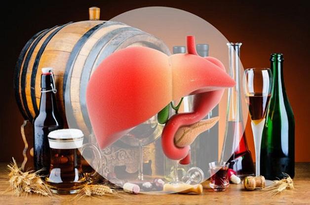 Không sử dụng rượu bia giúp giảm men gan