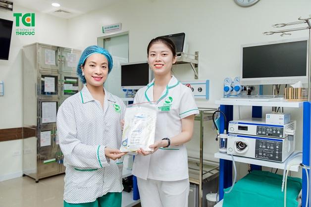 Đồ dùng cá nhân riêng biệt cho từng người bệnh Khoa Thăm dò chức năng - Nội soi
