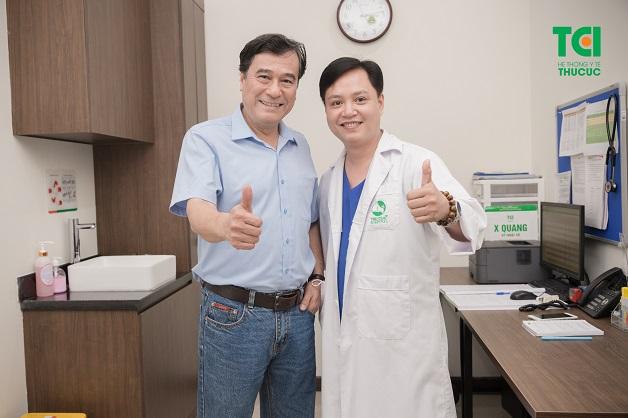 NSND Mạnh Cường đánh giá cao nội soi dạ dày - đại tràng NBI 5P tại Thu Cúc