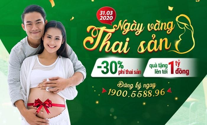 ưu đãi dịch vụ Thai sản trọn gói