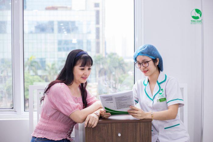 Quá trình thăm khám khép kín, nhanh chóng và hiệu quả chắc chắn sẽ khiến chị em hài lòng khi đến Bệnh viện ĐKQT Thu Cúc