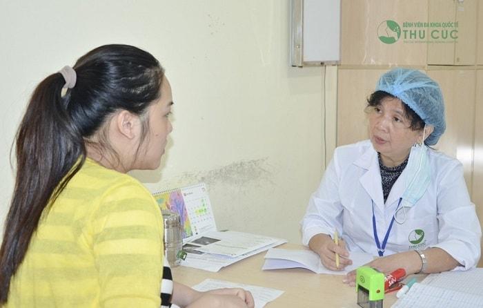 Sau khi thăm khám bác sĩ sẽ đưa ra hướng điều trị cụ thể