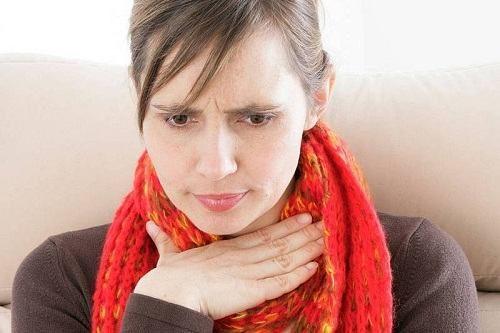 Bị viêm họng mạn tính do trào ngược dạ dày người bệnh sẽ kèm theo các triệu chứng đau tức ngực, rát họng, ăn uống kém