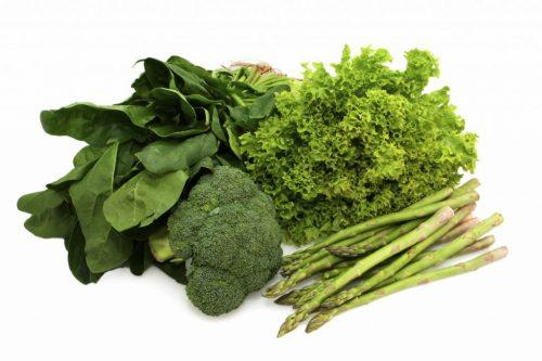 Các loại rau có màu xanh đậm giúp hỗ trợ chữa bệnh viêm loét hang vị dạ dày.