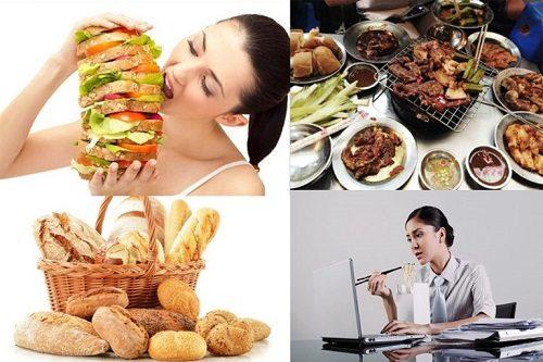 Chế độ ăn uống không khoa học là một trong những yếu tố làm tăng nguy cơ ung thư đường tiêu hóa