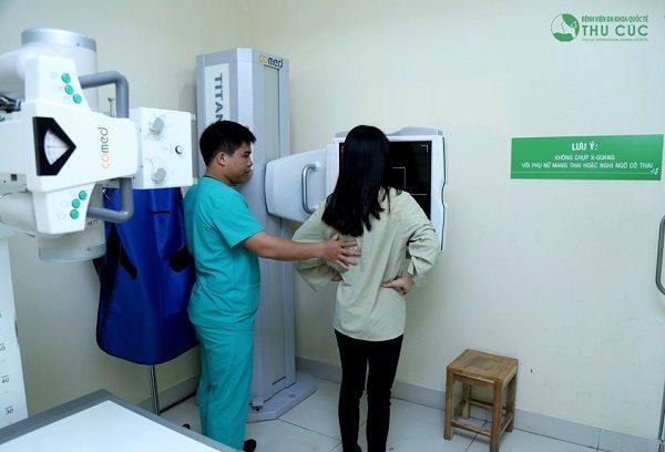 Chụp X-quang phổi là một dịch vụ đang được áp dụng tại bệnh viện Thu Cúc