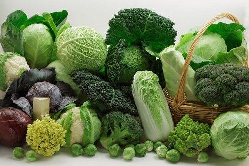 Người bệnh đau bao tử nên ăn những thực phẩm giàu vitamin như các loại rau họ cải