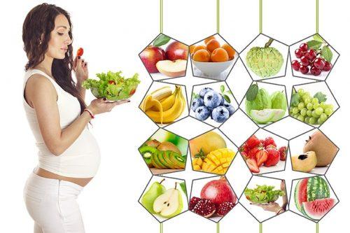 Bà bầu nên ăn nhiều rau xanh và các loại trái cây, để giảm triệu chứng đầy bụng xì hơi
