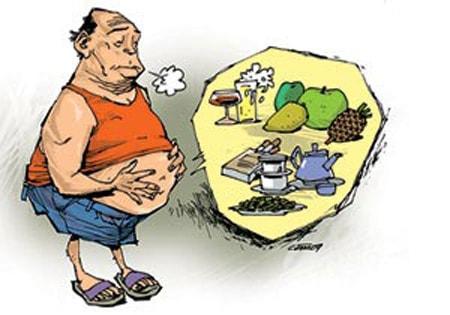 Chế độ ăn uống không điều độ dễ dẫn đến tình trạng đầy hơi chướng bụng