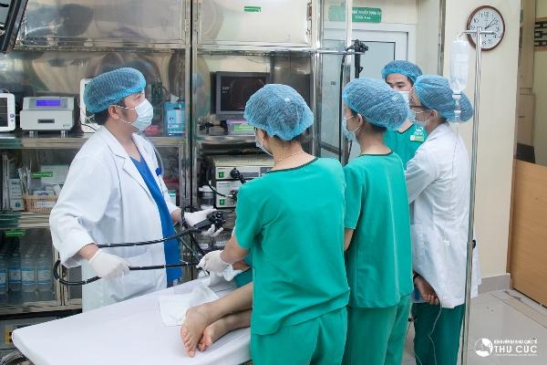Bệnh viện Thu Cúc có bác sĩ và ekip nội soi giỏi