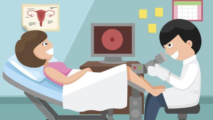 Đầu tiên, bác sĩ sẽ thăm khám lâm sàng bên ngoài.