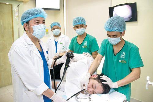 Kỹ thuật nội soi dạ dày qua đường mũi được triển khai với hệ thống máy nội soi hiện đại CV-170-Olympus Nhật Bản, phóng đại hình ảnh với dải sáng phổ hẹp NBI.