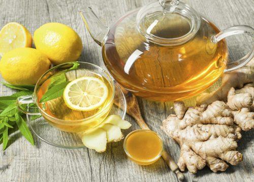 Uống trà gừng mật ong sau bữa ăn sáng có tác dụng tránh đầy bụng, khó tiêu