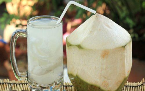 Nước dừa rất tốt cho người bị sốt xuất huyết.