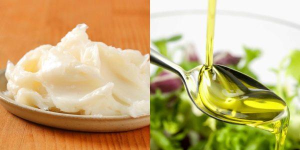 Bệnh nhân ung thư phổi nên thay thế mỡ động vật bằng các loại dầu thực vật có lợi cho sức khỏe như dầu hạt cải, dầu hướng dương...