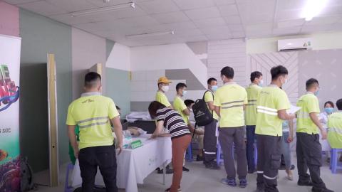 Mục sở thị quá trình thăm khám của cán bộ công nhân viên Saint Gobain Bắc Việt Nam