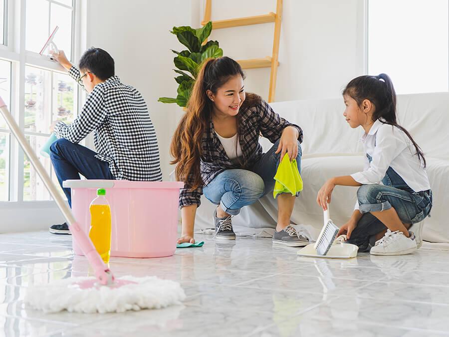 Dọn dẹp nhà cửa thường xuyên để phòng Amidan