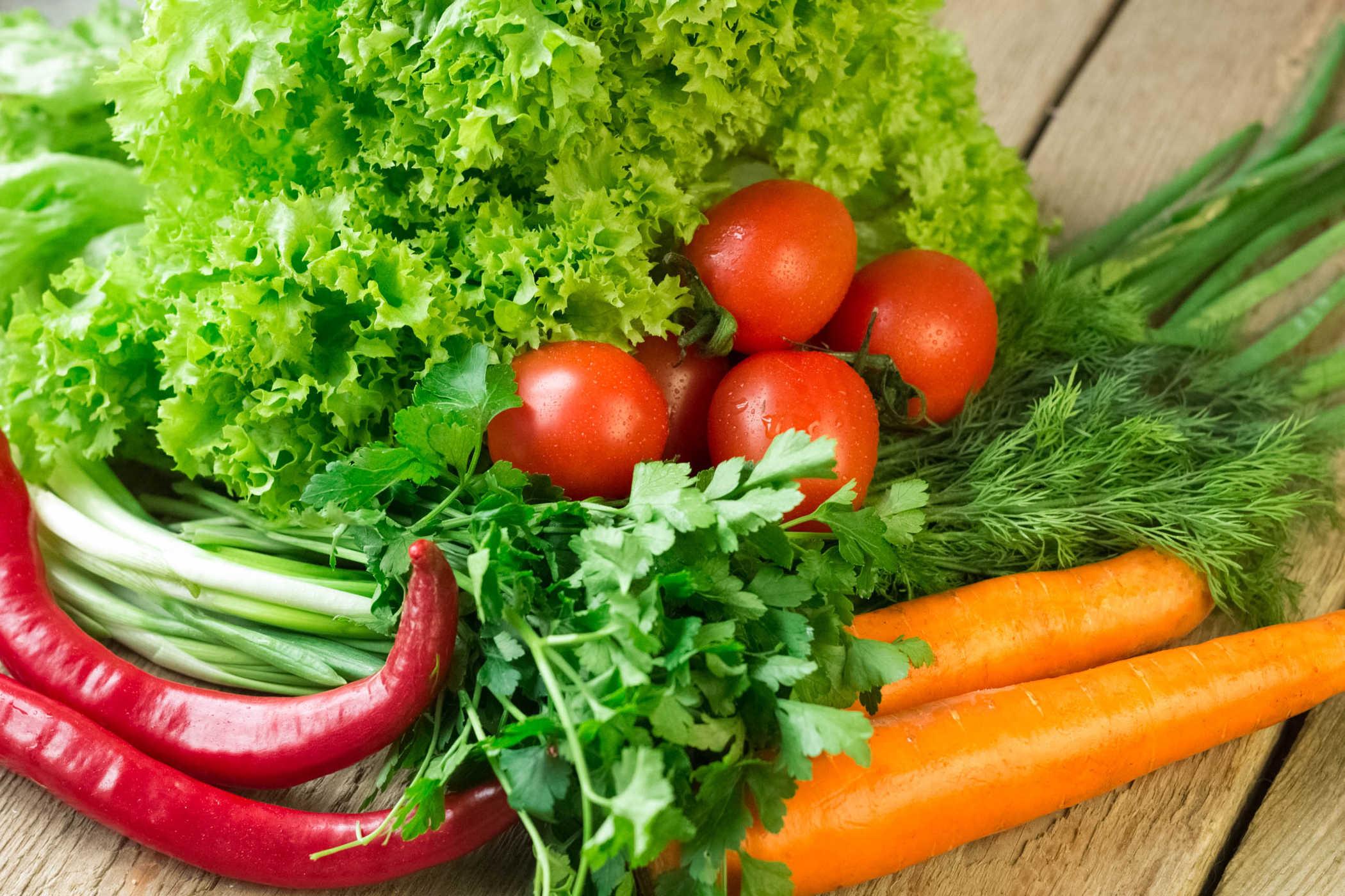 Nên bổ sung nhiều rau củ quả trong thực đơn khi có polyp túi mật 8mm